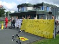Protest vor der UAA Gronau, Bild: Aktionsbündnis Münsterland gegen Atomanlagen