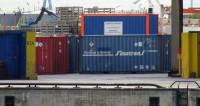 Uran-Container im Hamburger Hafen, 14.7.2014; Bild: BBU