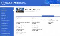 IAEA: AVR Jülich als Leistungsreaktor geführt
