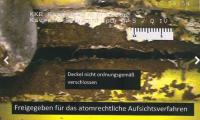 AKW Brunsbüttel: Nicht geschlossener Deckel eines Atommüllfasses, Bild: Vattenfall