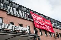 17.8.2014 - Protestaktion gegen Atomtransporte, Kiel; Bild: antiatomcamp.nirgendwo.info