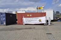 15.8.2014 - Aktion in Hamburg gegen Atomtransporte, Bild: http://antiatomcamp.nirgendwo.info