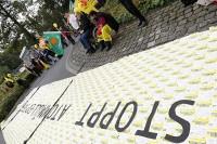 Protestpostkarten - Sonntagsspaziergang Jülich, 21.9.2014; Bild: Publixviewing.de