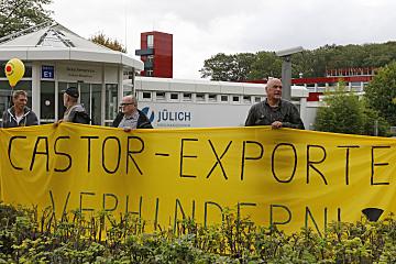 Sonntagsspaziergang Jülich: Protest gegen Atomexporte am 21.9.14
