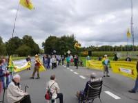 Ahaus: Demonstration am 21. September 2014 vor dem BZA; Bild: BI Ahaus